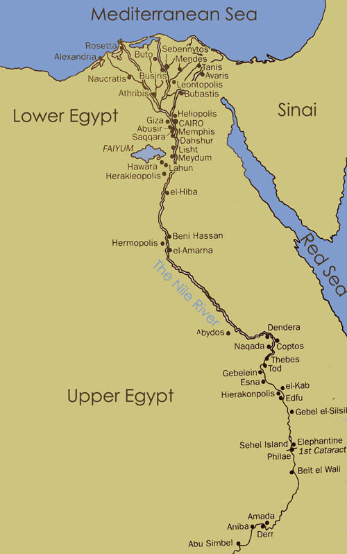Geography Ancient Egypt - Map of egypt elevation